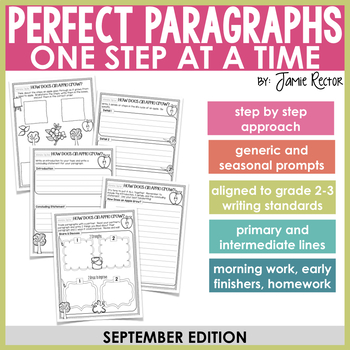 Perfect Paragraphs One Step at a Time: September Edition