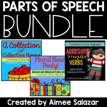 Perfect Parts of Speech Bundle {Plural Nouns, Irregular Ve
