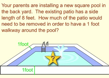 Perfect Squares and Square Roots Word Problems