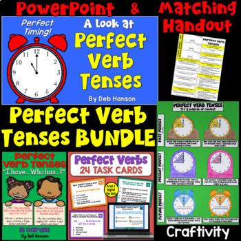Perfect Verb Tenses; A Bundle of Activities