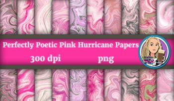 Perfectly Poetic Pink Hurricane Papers