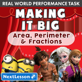 Performance Task - Area, Perimeter, and Fractions - Making