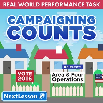 Performance Task – Area and Four Operations – Campaigning Counts