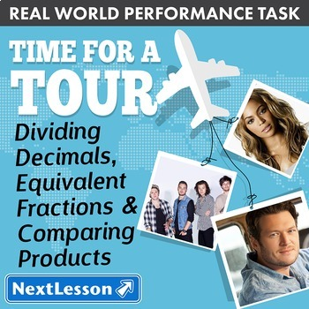 Performance Task - Decimals, Fractions, & Comparing - Time