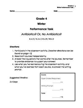 Performance Task: Grade 4 (Informative)