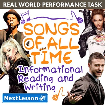 Performance Task – Informational Writing – Songs of All Ti