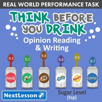 Performance Task – Opinion Writing – Think Before You Drin