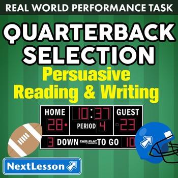 Performance Task – Persuasive Writing – Quarterback Select