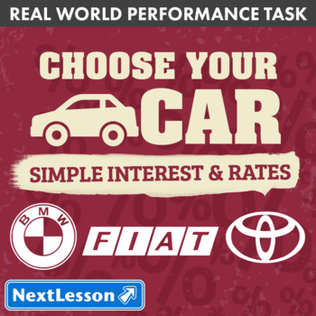 Performance Task - Simple Interest & Rates - Choose Your C