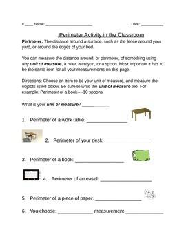 Perimeter: A classroom measurement activity