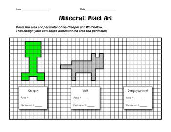 Perimeter/Area Minecraft Pixel Art