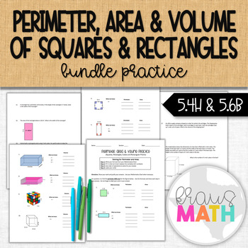 Perimeter, Area & Volume of Rectangles and Squares Guided