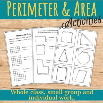 Perimeter & Area Worksheets.