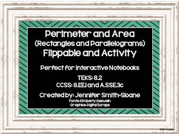 Perimeter & Area of Rectangles & Parallelograms Flippable