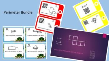 Perimeter Bundle-Perimeter Scoot, QR Code Task Cards, Peri