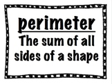 Perimeter Pack: Task Cards and Posters