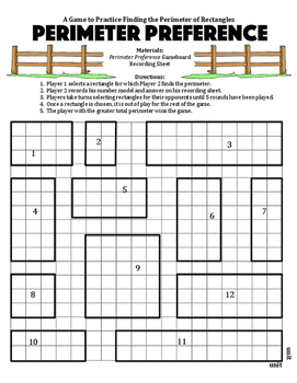 Perimeter Preference - A Game to Practice Finding the Peri