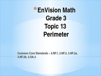 Perimeter Unit - EnVision Math Grade 3 Topic 13