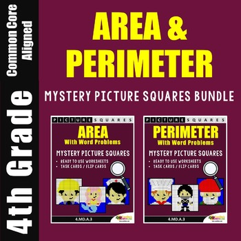 Area and Perimeter Word Problems and Worksheets Mystery Pictures
