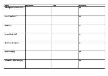 Perimeter and Area Activity Template