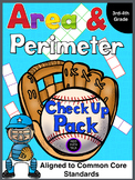 Perimeter and Area Check up Pack!
