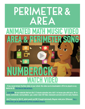 Perimeter and Area | FREE Math Poster, Worksheet, & Fun Vi