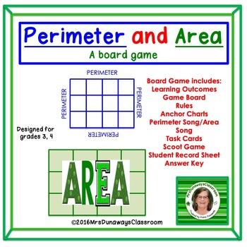 Perimeter and Area: File Folder Game