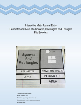 Perimeter and Area Interactive Notebook Entry
