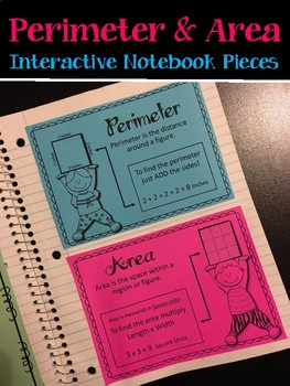 Perimeter and Area. Interactive Notebook pieces.