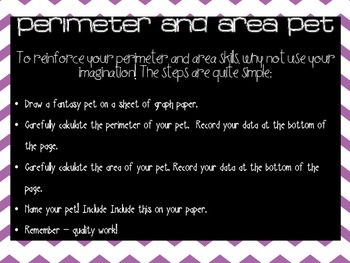 Perimeter and Area Pet