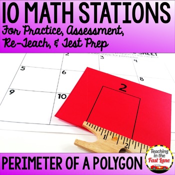 Perimeter of Polygons Test Prep Math Stations