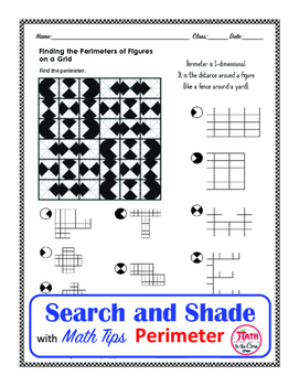 Perimeter of an Irregular Figure Coloring Search and Shade