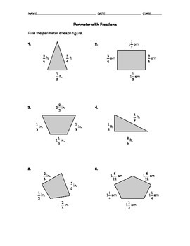 Perimeter with Fractions