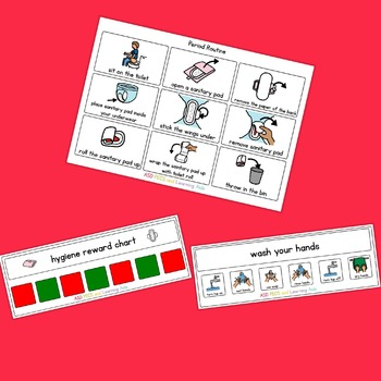 Period / Sanitary Visual Routine Pack - Boardmaker Visual