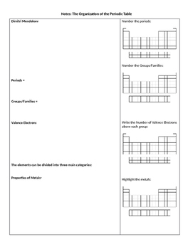 Periodic Table Guided Notes