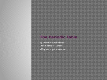 Periodic Table  Powerpoint Presentation.