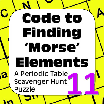 Periodic Table of the Elements Scavenger Hunt: Code to Fin