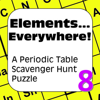 Periodic Table of the Elements Scavenger Hunt: Elements…Ev