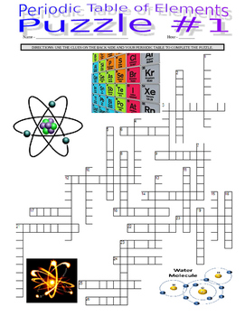 Periodic Table of Elements (3 Crossword Puzzles / 112 Elements)