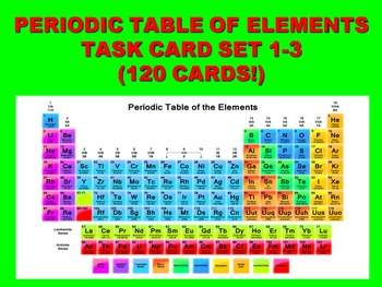 Periodic Table of Elements Task Cards (BUNDLE Sets 1-3) -