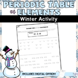 Periodic Table of Elements Winter Atomic Number Activity