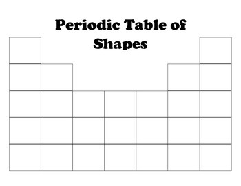Periodic Table of Shapes