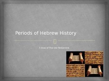 Periods of Hebrew History