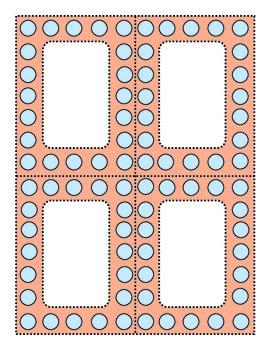 Perky Polka Dots Blue and Coral