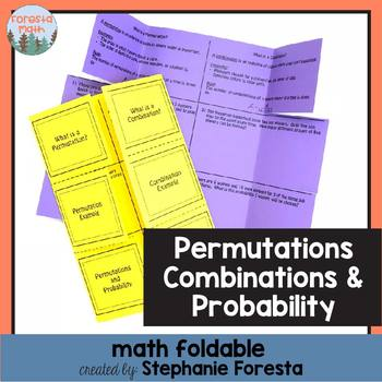Permutations, Combinations, and Probability Foldable
