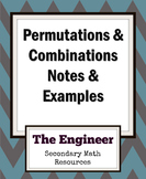 Permutations and Combinations Notes and Examples