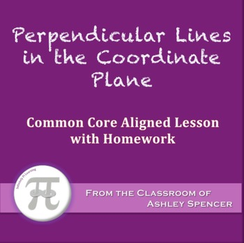 Perpendicular Lines in the Coordinate Plane (Lesson with H
