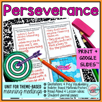 Morning Meeting Determination Perseverance Theme