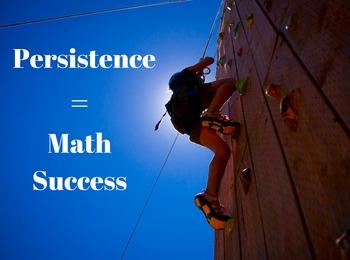 Persistence = Math Success POSTER