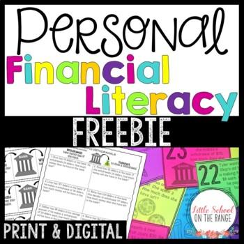 Personal Finance - Financial Literacy and Money Unit FREEBIE
